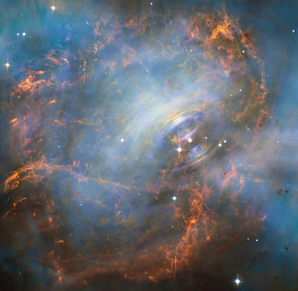 Wall Art - Photograph - Heart Of The Crab Nebula by Science Source