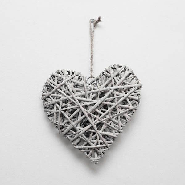 Bamboo Photograph - Heart Ornament by Tom Gowanlock