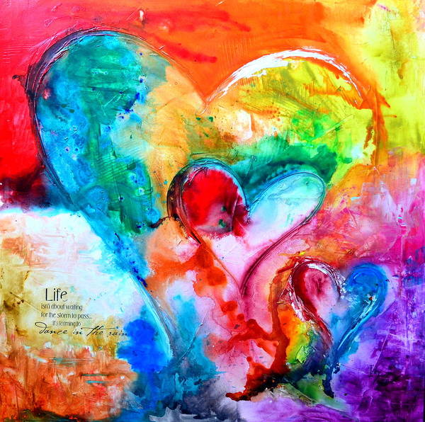 True Love Wall Art - Painting - Live Hope Dream by Ivan Guaderrama
