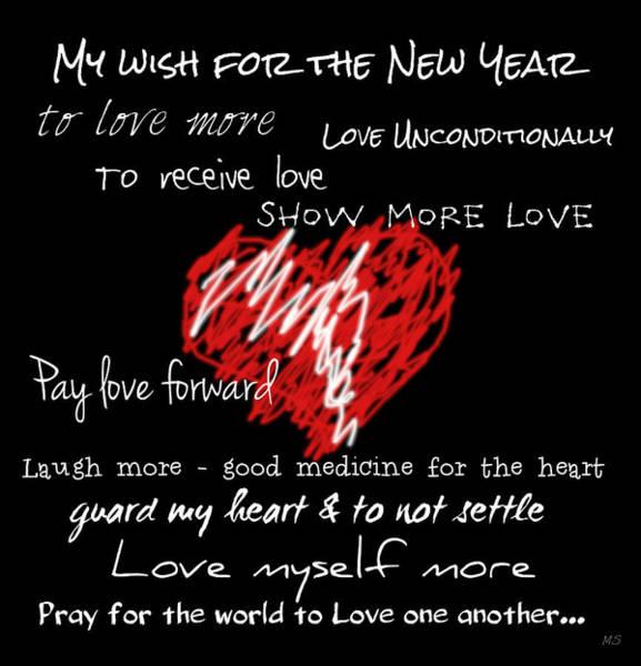 Pray For Love Wall Art - Digital Art - Heart - Pay Love Forward by Absinthe Art By Michelle LeAnn Scott