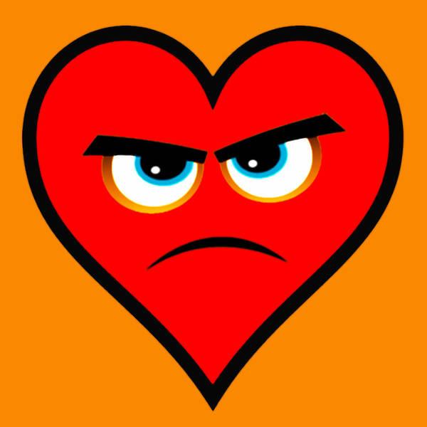 Painting - Heart Series Love Angry Hearts by Tony Rubino