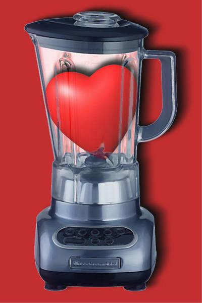 Painting - Heart Series Love Blenders by Tony Rubino