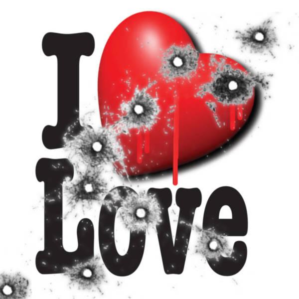 Painting - Heart Series Love Bullet Holes In Paintings by Tony Rubino