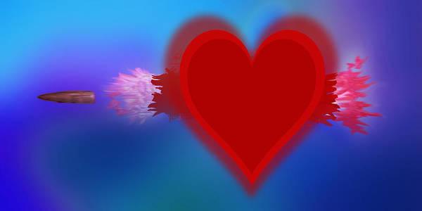 Painting - Heart Series Love Speeding Bullets 1 by Tony Rubino