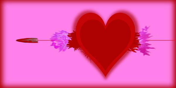 Painting - Heart Series Love Speeding Bullets 2 by Tony Rubino