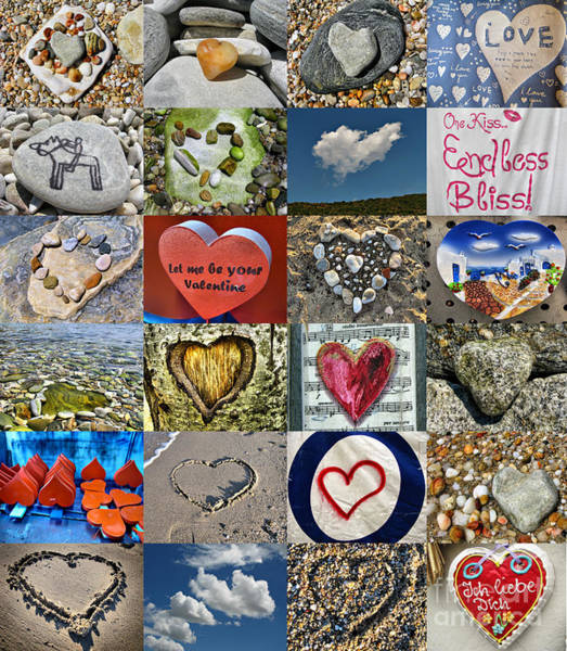 Photograph - Heart Shape Collage  by Daliana Pacuraru
