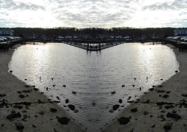 Wall Art - Digital Art - Heart  Shape In The Harbor by Del Gaizo