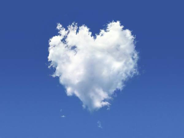 Emotion Digital Art - Heart-shaped Cloud, Artwork by Leonello Calvetti