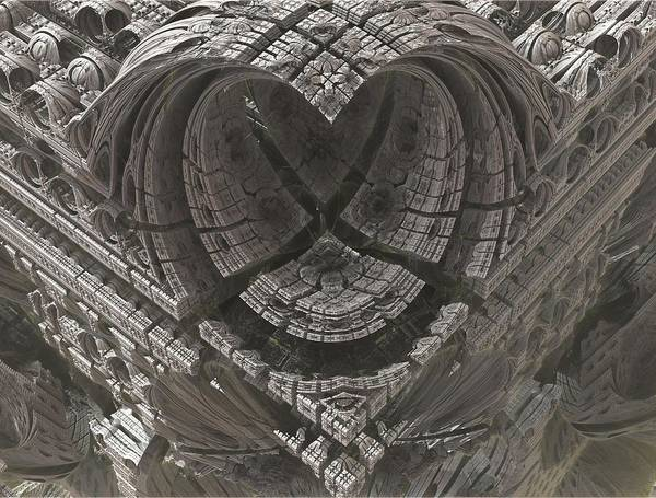 Science Fiction Photograph - Heart-shaped Mandelbox by Jacob Bettany