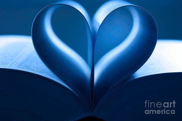 Photograph - Heart-shaped Pages, Book by Jens C. Schmitz