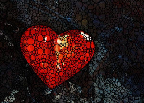Painting - Heart - Stone Rock'd Art By Sharon Cummings by Sharon Cummings