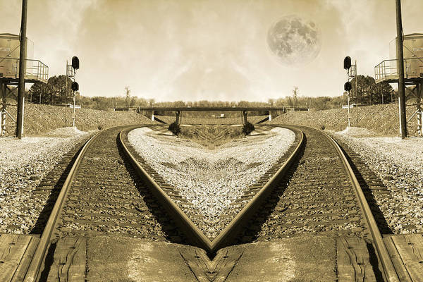 Railroad Tie Wall Art - Photograph - Heart Tracks by Betsy Knapp