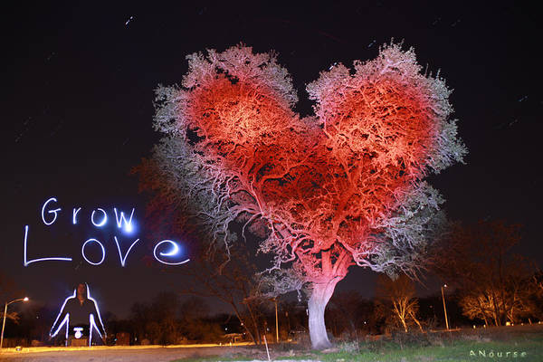 Wall Art - Painting - Grow Love by Andrew Nourse
