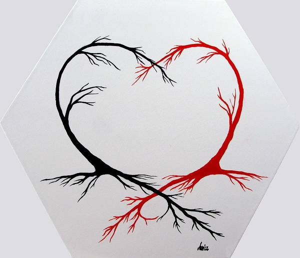 Photograph - Heart Trees - Arteries Of Love by Marianna Mills