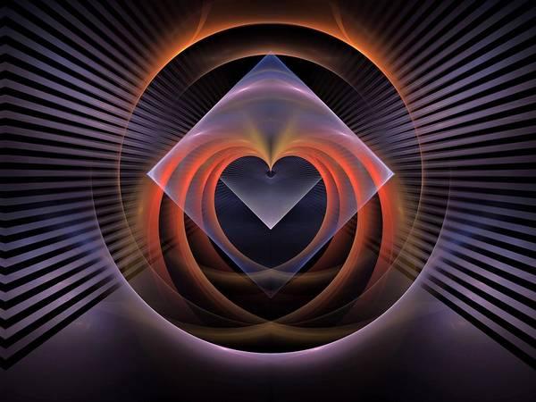 Cheerleaders Digital Art - Heart-triangle by Bill Campitelle