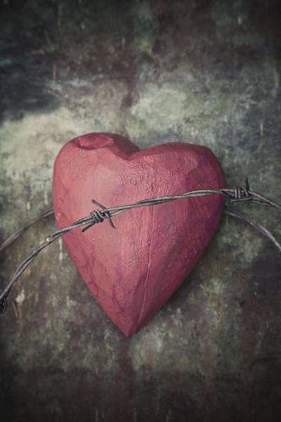 Photograph - Heart With Thorns by Maria Heyens