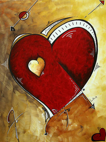 Upbeat Painting - Heartbeat By Madart by Megan Duncanson