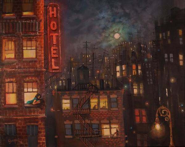 Wall Art - Painting - Heartbreak Hotel by Tom Shropshire