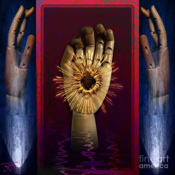 Dummy Digital Art - Hearted Hand by Rosa Cobos