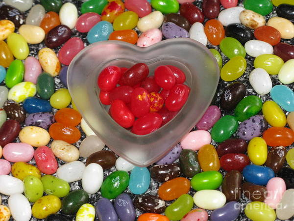 Jelly Belly Photograph - Heartful Of Jelly Beans by Ausra Huntington nee Paulauskaite