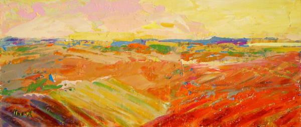 Wall Art - Painting - Heartland Series/ Prairies by Marilyn Hurst