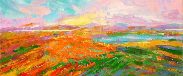 Wall Art - Painting - Heartland Series/ Vineyards by Marilyn Hurst