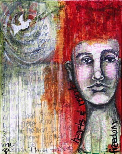Faith Healing Mixed Media - Hearts And Minds by Carrie Todd