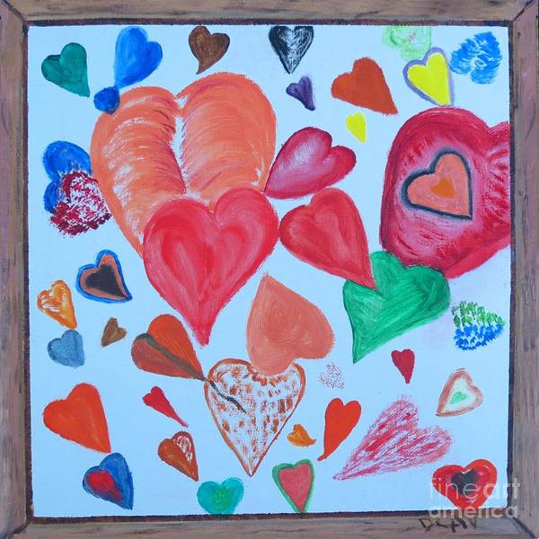 Painting - Hearts by Donna Cavanaugh