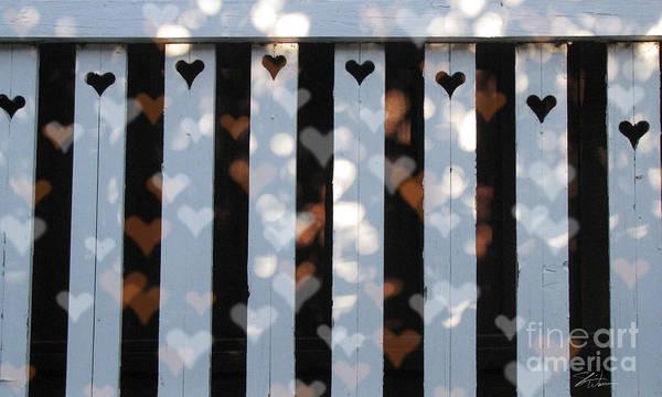 Fence Mixed Media - Hearts Fence by Shari Warren
