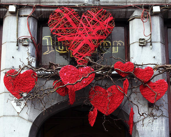 In Bruges Photograph - Hearts In Bruges by John Rizzuto