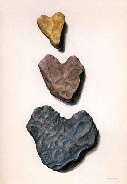 Hearts Rock Art Print