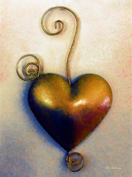 Painting - Heartswirls by RC DeWinter