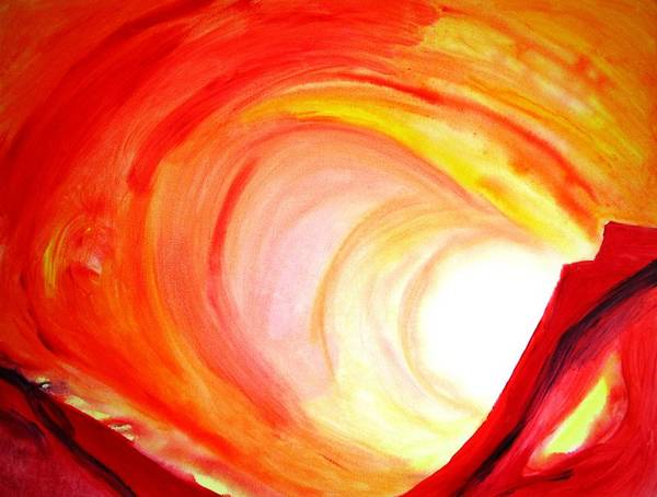 Tunnel Painting - Heat by Carlin Blahnik CarlinArtWatercolor