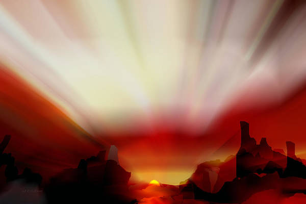 Photograph - Heat - Desert Monument Sunrise by rd Erickson