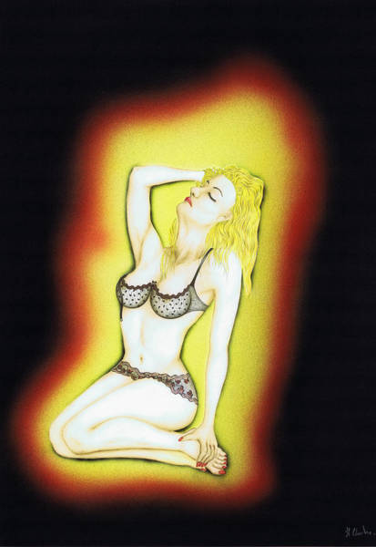 Sexuality Mixed Media - Heat. by Kenneth Clarke