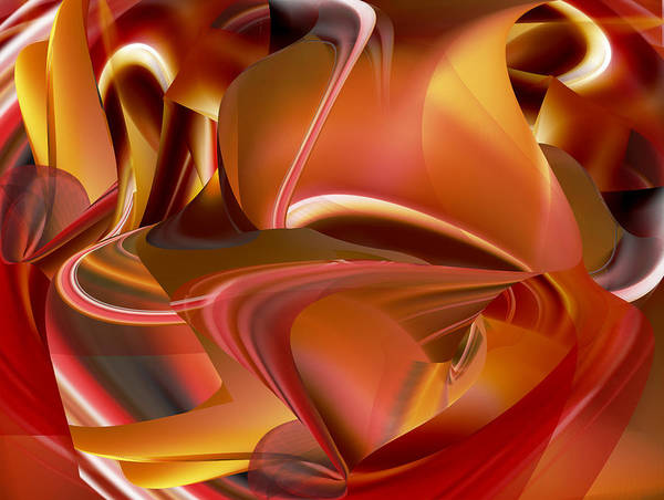 Digital Art - Heat Within by rd Erickson