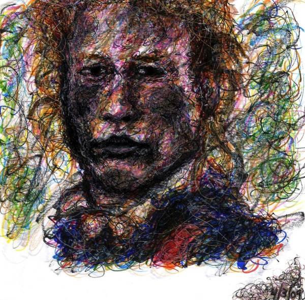 Drawing - Heath Ledger As Gabriel Martin - The Patriot by Rachel Scott