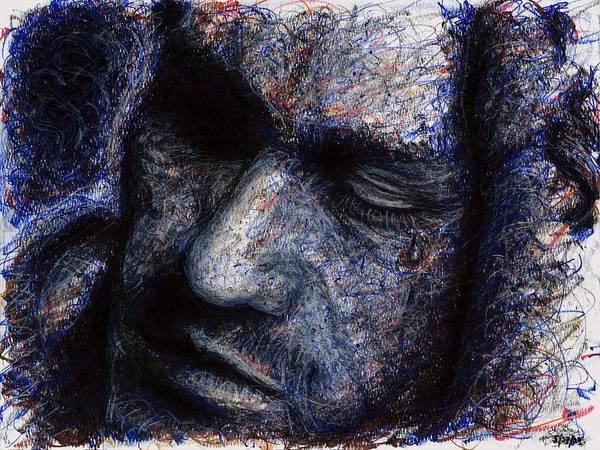 Drawing - Heath Ledger - Blue by Rachel Scott