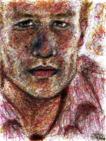 Drawing - Heath Ledger - Pink by Rachel Scott