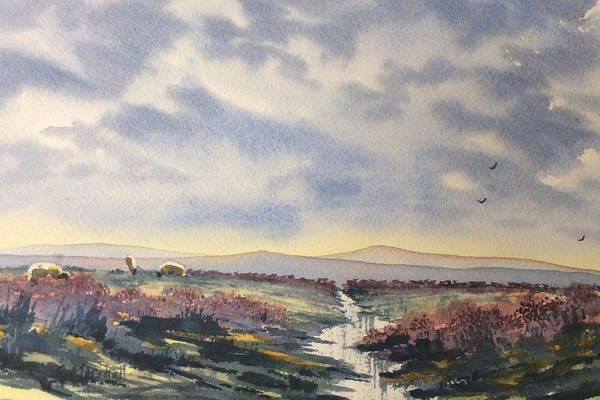Painting - Heather On The Road To Fairy Plain  by Glenn Marshall