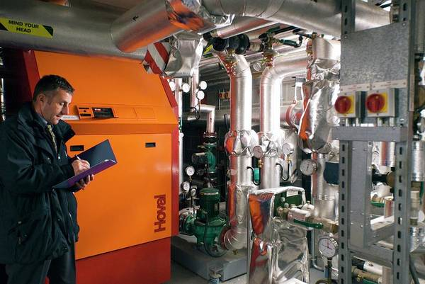 Boiler Photograph - Heating System Boiler by Simon Fraser/science Photo Library