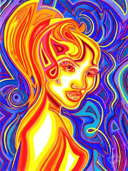 Drawing - Heatwave by Danielle R T Haney