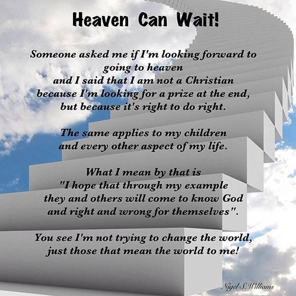 Wall Art - Photograph - Heaven Can Wait by Nigel Williams