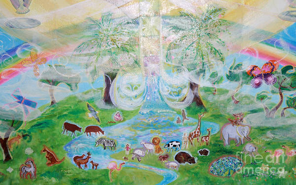 Painting - Heaven On Earth Animal Detail by Anne Cameron Cutri