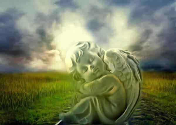 Angelic Digital Art - Heavenly Angels Vintage Cool Version by Georgiana Romanovna