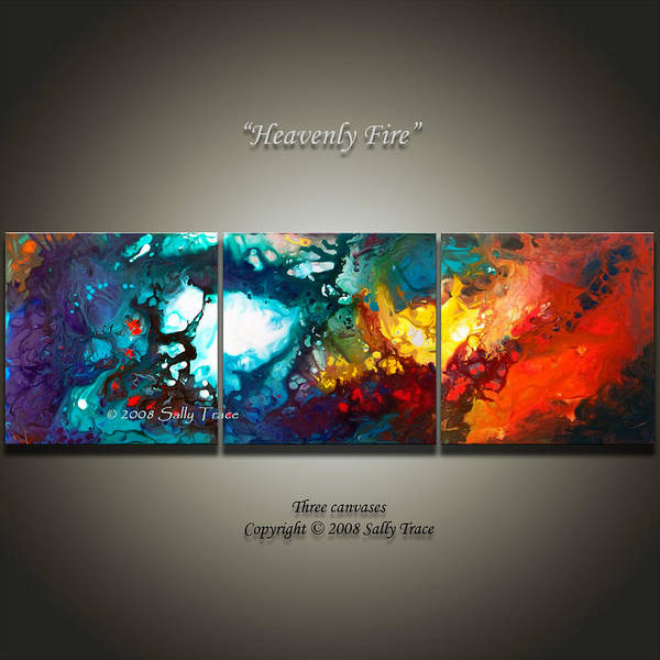 Heavenly Fire Art Print