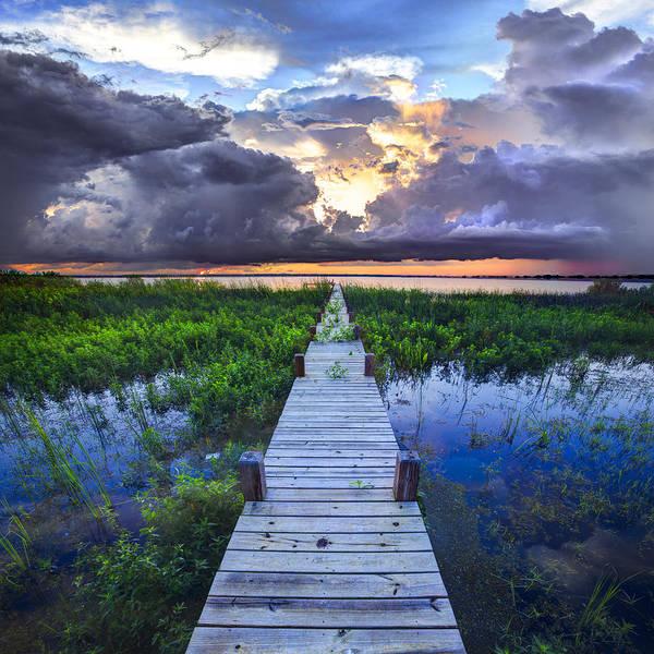 Coastal Marshes Photograph - Heavenly Harbor by Debra and Dave Vanderlaan