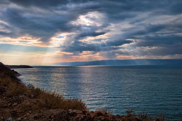 Photograph - Heavenly Light On The Dead Sea by Mark Whitt