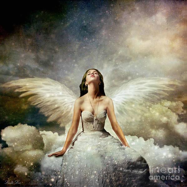 Angelic Digital Art - Heavenly by Linda Lees