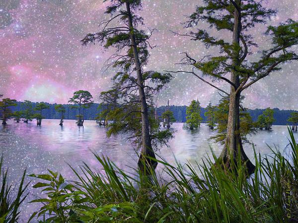 Cypress Digital Art - Heavenly Sunrise by J Larry Walker